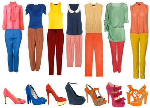 Одежда сочетающихся цветов