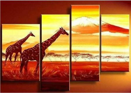 Картина с изображением жирафов (фото)