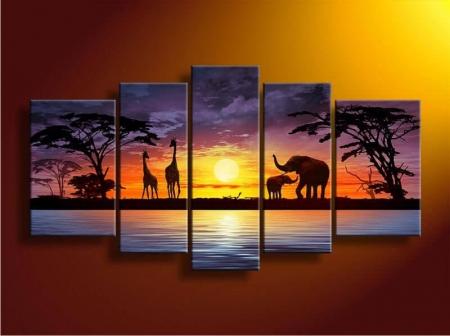 Модульная картина с изображением животных (фото)