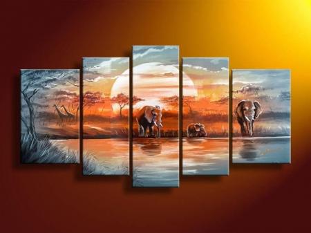 Картина с изображением семьи слонов (фото)