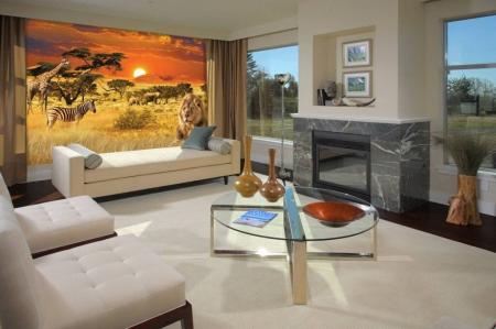 Африканская саванна в гостной (фото)