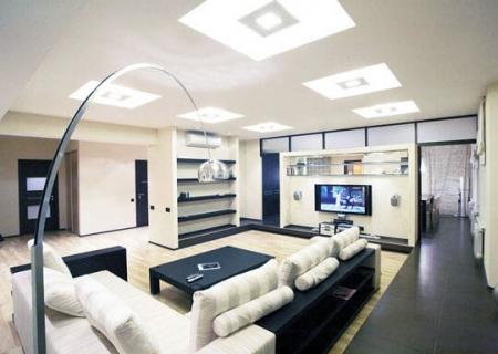 Интеграция гостиной с другими помещениями (фото)