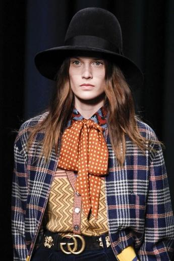 модная черная шляпа 2016-2017 от Gucci (фото)
