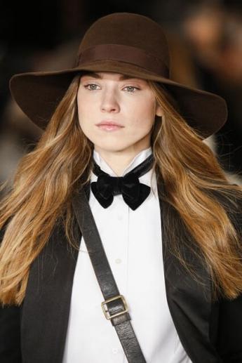 Коричневая фетровая широкополая шляпа 2016-2017 от Ralph Lauren (фото)