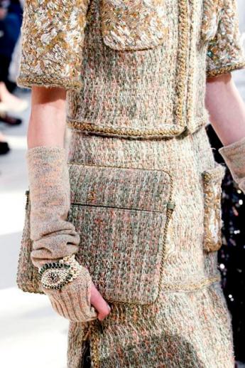 Перчатки без пальцев из коллекции Chanel