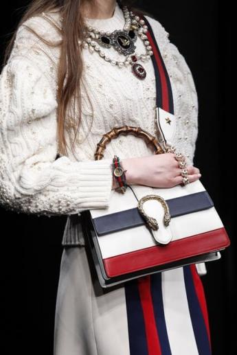 Сумочка 2016/17 в полоску из коллекции Gucci