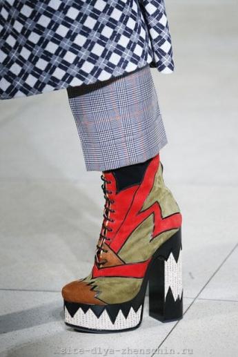 Ботильоны 2016 на шнуровке от Miu Miu