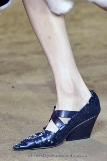 Остроносые туфли от Celine