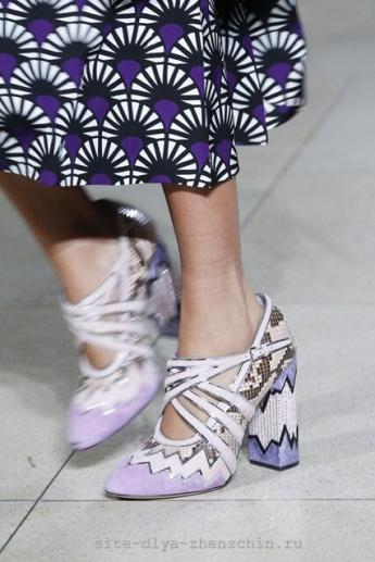 Геометрическая раскраска модных туфель от Miu Miu (фото)