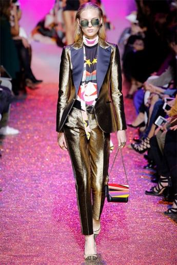 Модные блестящие брюки 2017 (фото)