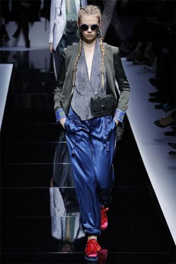 Модные синие женские брюки 2017