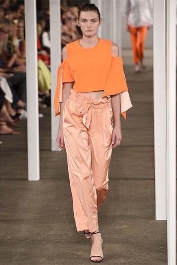 Красивые брюки 2017 оранжевого оттенка
