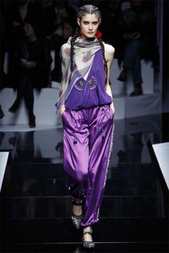 Фиолетовые женские брюки 2017 (фото)