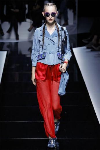 Красные брюки 2017
