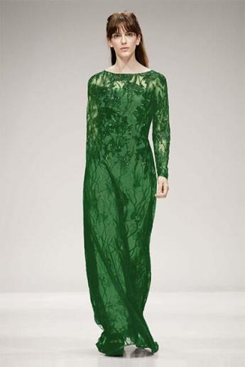 Вечернее платье 2017 зеленого цвета (фото)