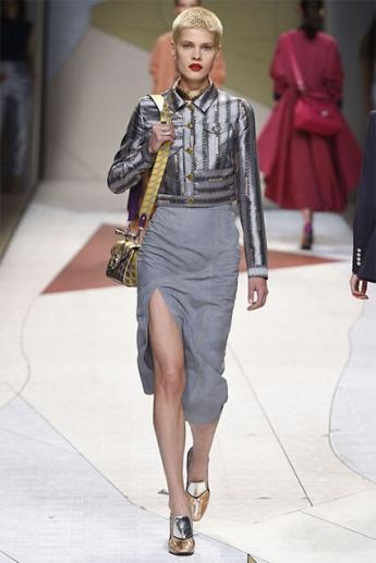 Модная юбка-карандаш 2017 с разрезом (фото)