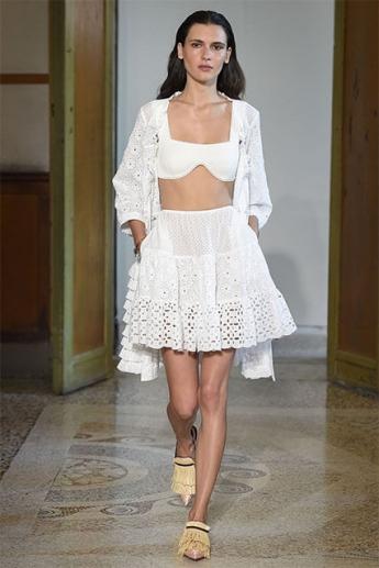 Модная белая юбка весна-лето 2017