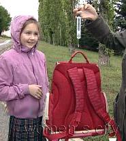 Вес рюкзака не должен превышать 10% веса ребенка