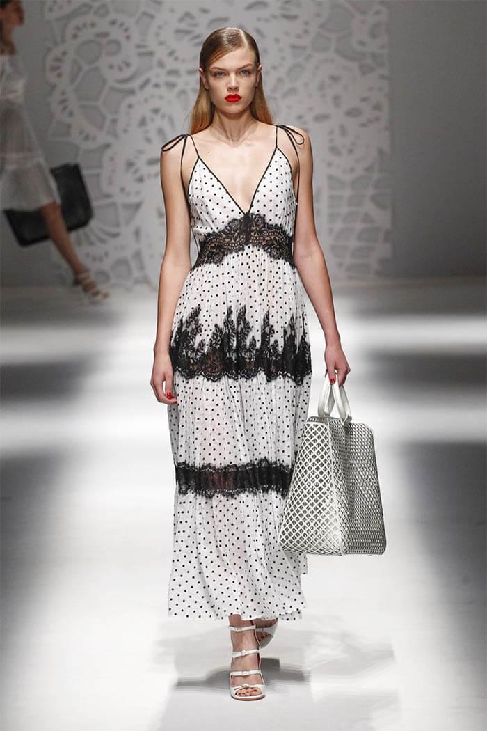 Платье 2018 в горошек из коллекции Blumarine (фото)