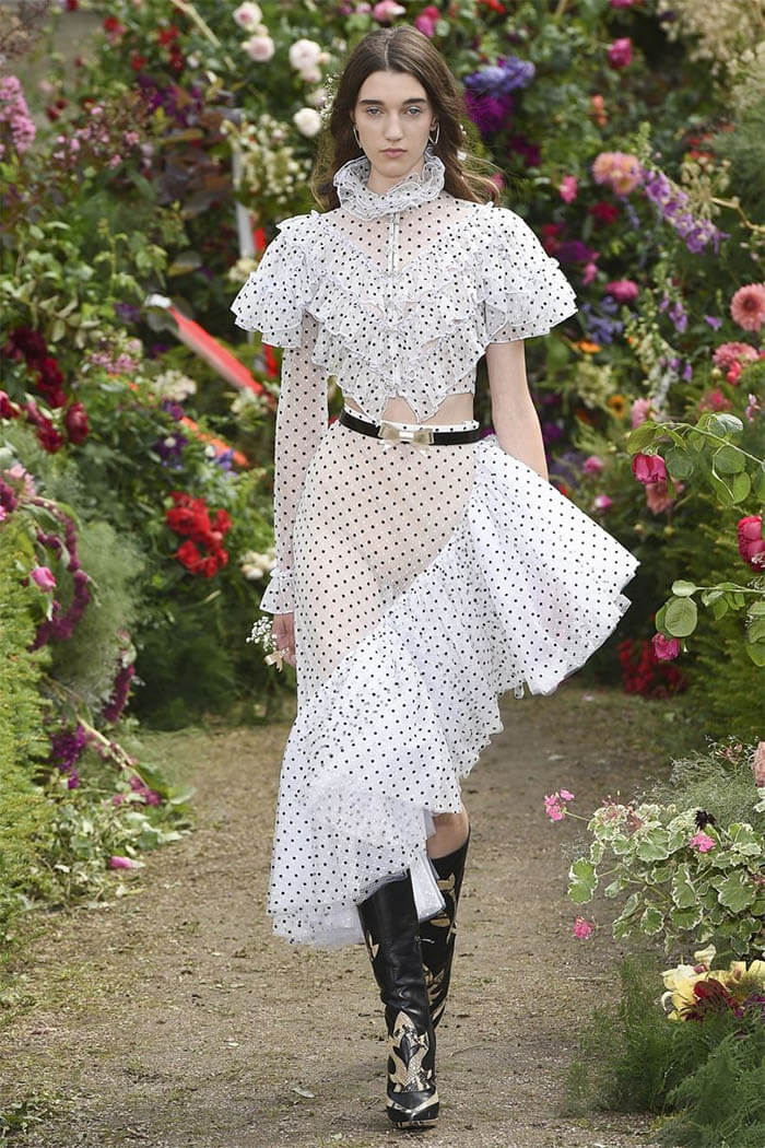 Красивое платье в горошек (Rodarte)
