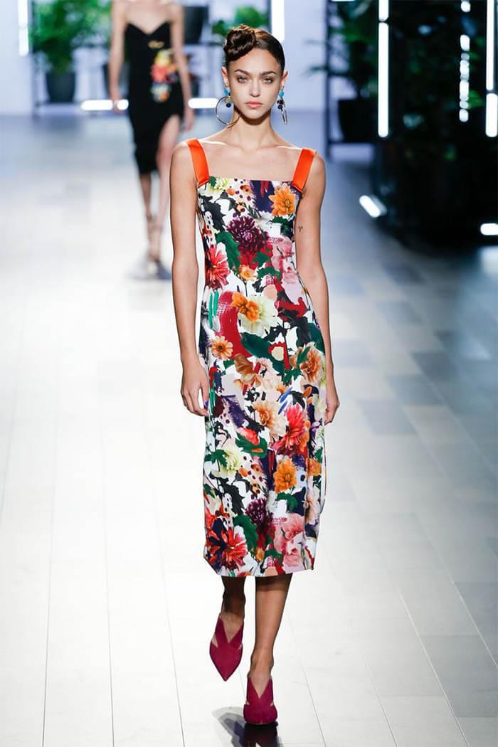 Платье с цветочным принтом (Cushnie Et Ochs)