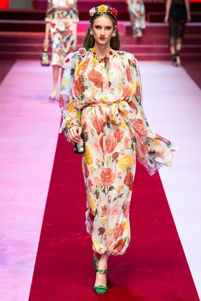 Цветочный рисунок от Dolce & Gabbana (фото)