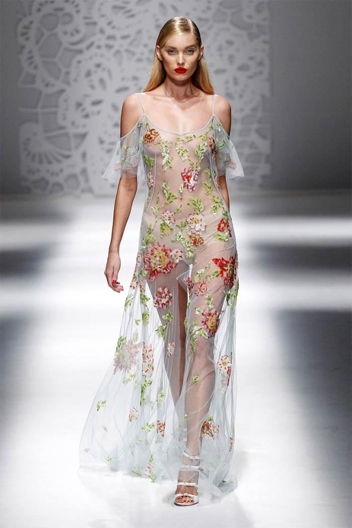 Платье 2018 из прозрачной ткани