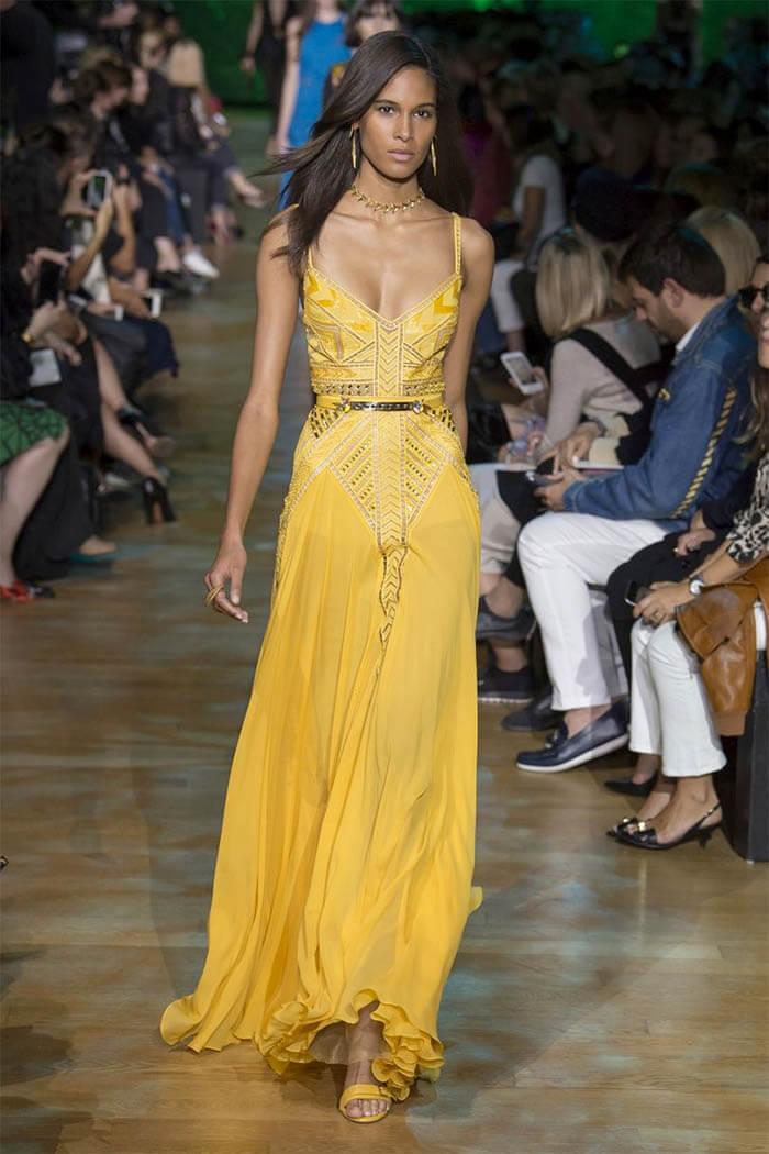 Желтое платье 2018 от Elie Saab (фото)