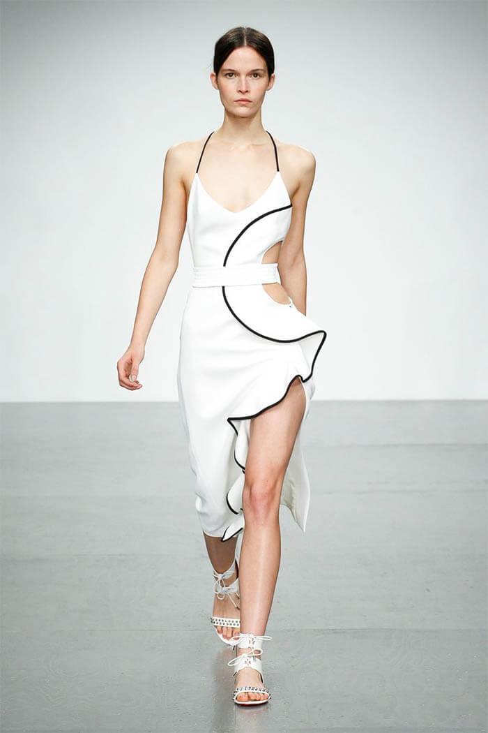 Платье 2018 белого цвета (David Koma)