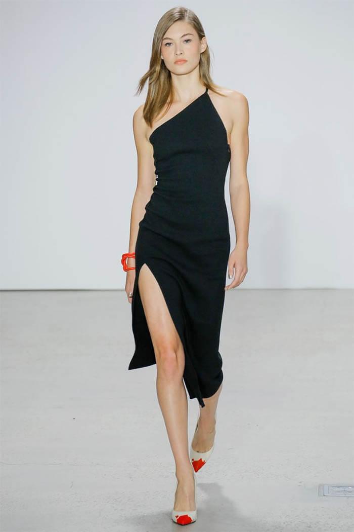 Стильное черное платье от Oscar de la Renta