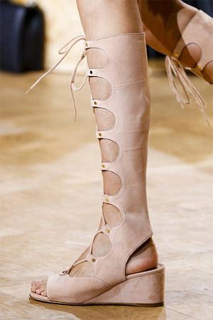 Модные женские сандалии из коллекции весна-лето 2015 от Chloe (фото)