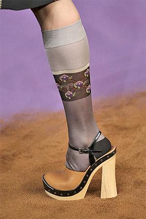 Высокий устойчивый каблук от модного дома prada (фото)