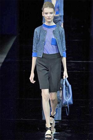 Черные шорты от Emporio Armani (фото)