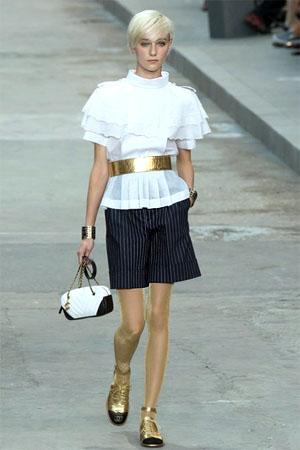 Шорты в полоску от Chanel (фото)