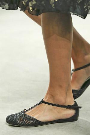 На низком ходу туфли от Bottega Veneta 2015 (фото)