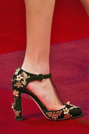 Цветочный принт на туфлях от Dolce and Gabbana (фото)