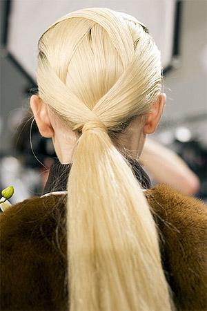 Конский хвост на светлые волосы (фото)