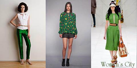 Одежда зеленого цвета в моде сезона весна-лето 2012. Фото. 0577aa5da8b